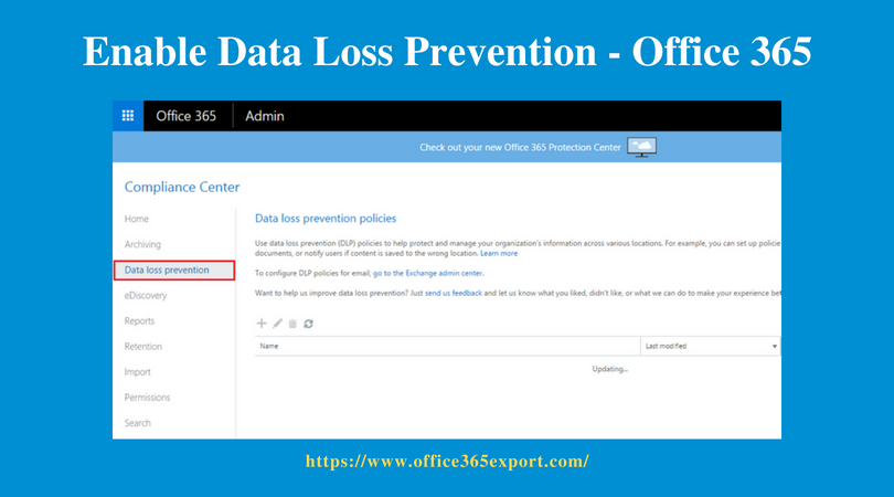 Enable Data Loss Prevention