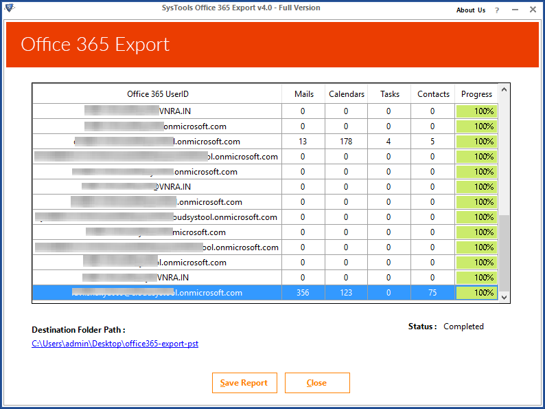 Office 365 Export Utility 4.0
